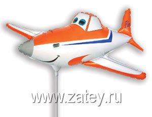 Фигура мини Самолет оранжевый 1206-0672