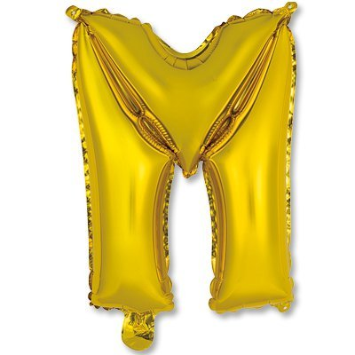 """Мини буква М 14"""" Gold 1206-0815"""