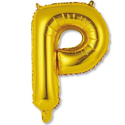 """Мини буква Р 14"""" Gold 1206-0819"""