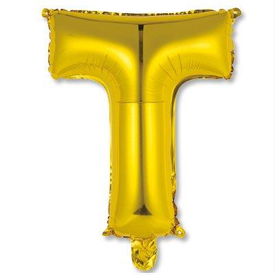 """Мини буква Т 14"""" Gold 1206-0821"""