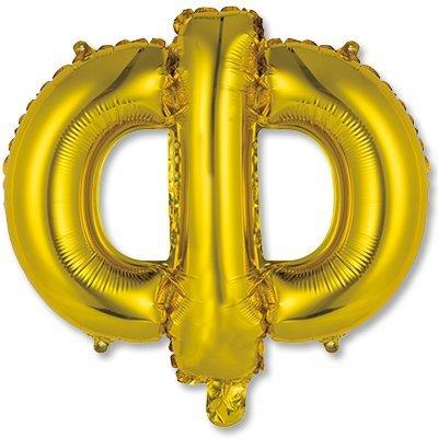 """Мини буква Ф 14"""" Gold 1206-0823"""