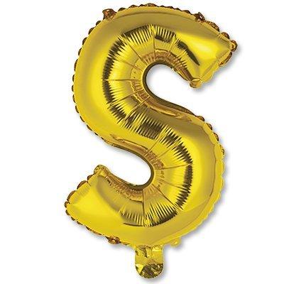 """Мини буква S 14"""" Gold 1206-0828"""