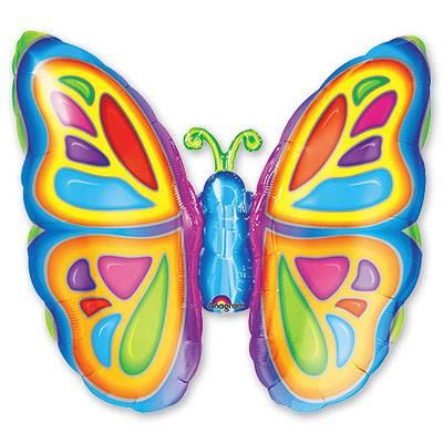 Шар фигура Бабочка яркая 1207-0034