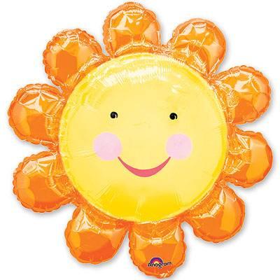 Шар фигура Цветок оранжевый 1207-0064