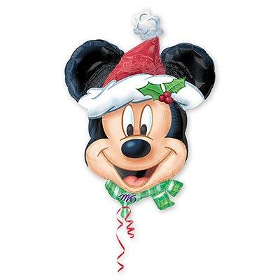 Шар фигура Новый год Микки Санта 1207-0132