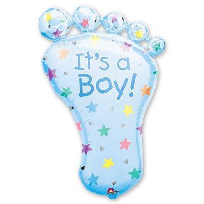 Шар фигура Стопа мальчика голубая 1207-0149