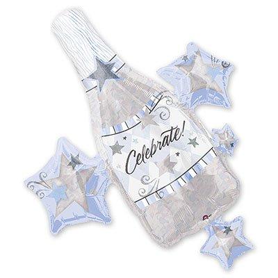 Шар фигура Поздр Шампанское и звезды 1207-0218