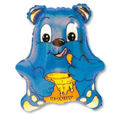 Шар фигура Медвежонок синий 1207-0373
