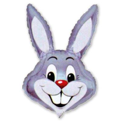Шар фигура Кролик серый 1207-0407