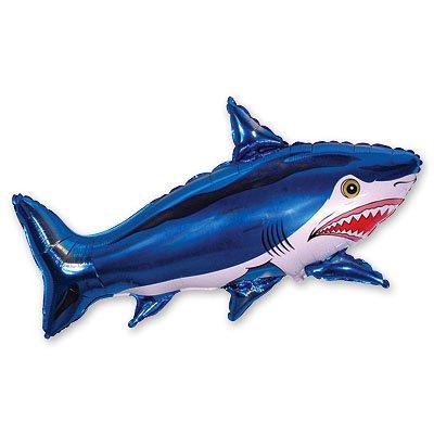 Шар фигура Акула большая синяя 1207-0437
