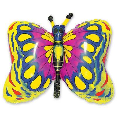 Шар фигура Бабочка золотая 1207-0442