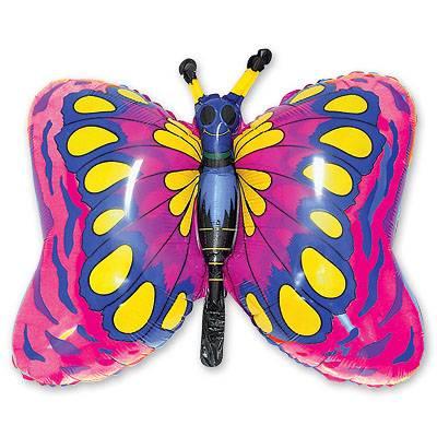 Шар фигура Бабочка малиновая 1207-0443