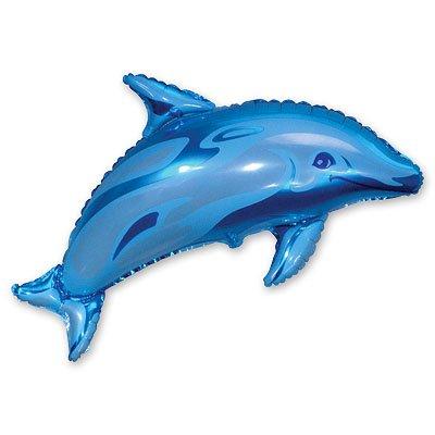 Шар фигура Дельфин голубой 1207-0452