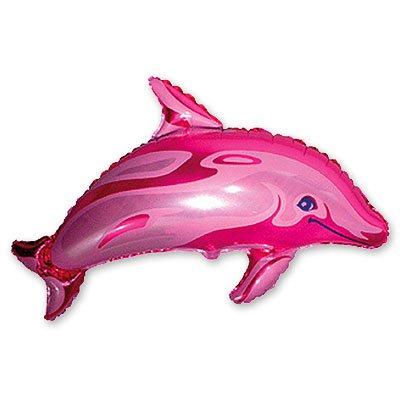 Шар фигура Дельфин розовый 1207-0455