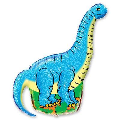 Фольгированный шар динозавр голубой 1207-0456