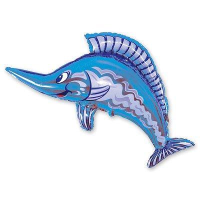 Шар фигура Рыба меч синяя 1207-0483
