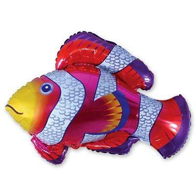 Шар фигура Рыба пестрая красная 1207-0486