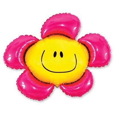 Шар фигура Цветок розовый 1207-0492