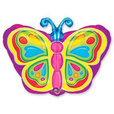 Шар фигура Бабочка яркая 18 дюймов 1207-0540