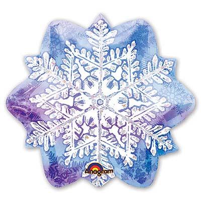 Шар фигура Новый год Снежинка 18 дюймов 1207-0541