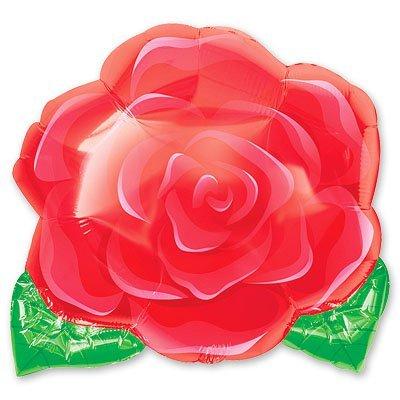Шар фигура Роза красная малая 1207-0630