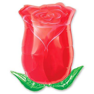 Шар фигура Роза бутон красный 1207-0673