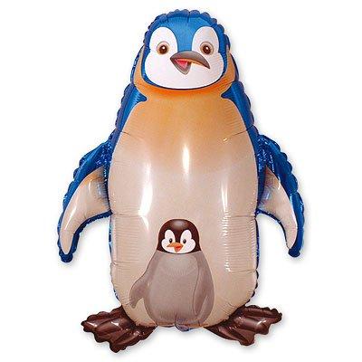 Шар фигура Пингвин синий 1207-0698