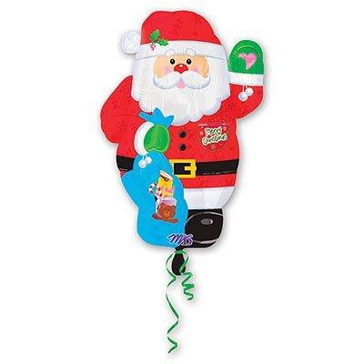 Шар фигура Новый год Санта 1207-0747