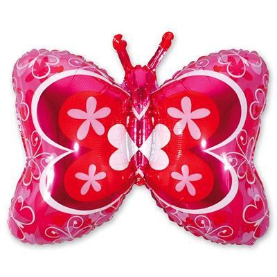 Шар фигура Бабочка розовая 1207-0832