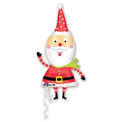 Шар фигура Новый год Санта забавный 1207-0933