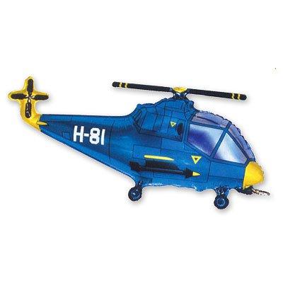 Шар фигура Вертолет синий 1207-0941