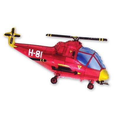 Шар фигура Вертолет красный 1207-0942