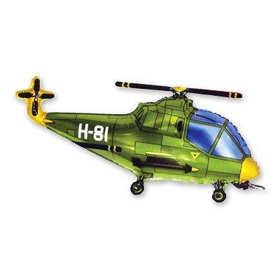Шар фигура Вертолет зеленый 1207-0943