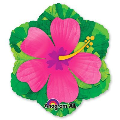 Шар фигура Гибискус розовый 1207-0957