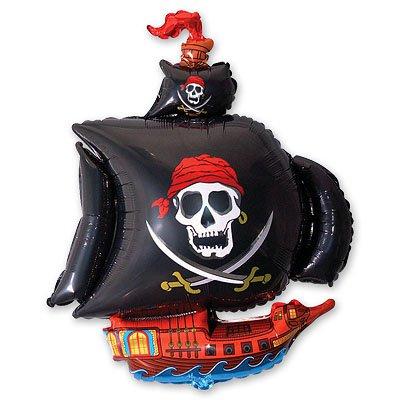 Шар фигура Корабль пиратский черный 1207-1043