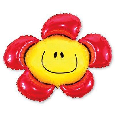 Шар фигура Цветок красный 1207-1045
