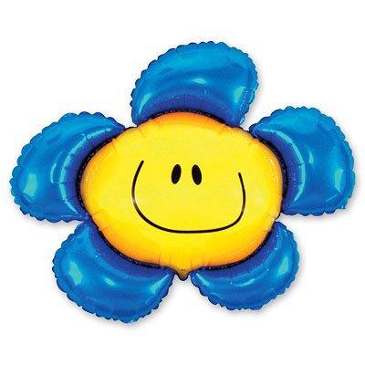 Шар фигура Цветок синий 1207-1046