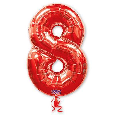 Шар фигура цифра 8 Red 1207-1220