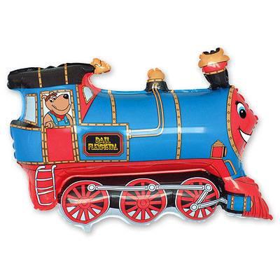 Шар фигура Поезд голубой 1207-1283