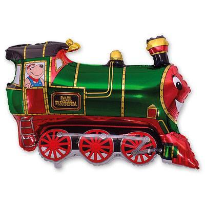Шар фигура Поезд зеленый 1207-1284