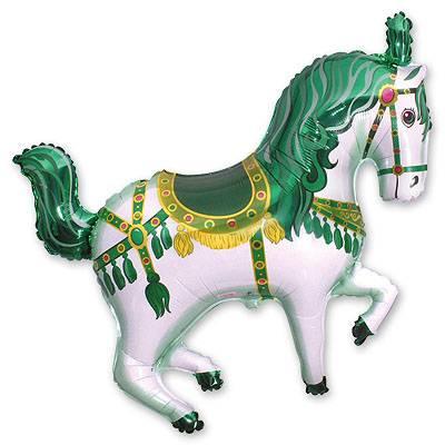 Шар фигура Лошадь цирковая зеленая 1207-1289