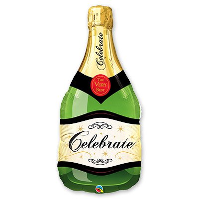 Шар фигура Бутылка шампанского 1207-1335