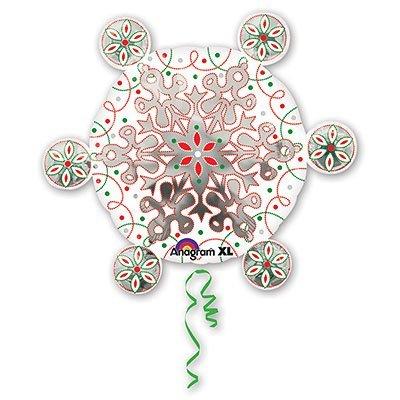 Шар фигура Снежинка 1207-1343