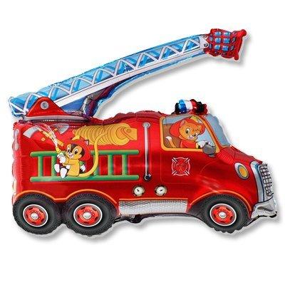 Шар фигура Машина пожарная 1207-1412