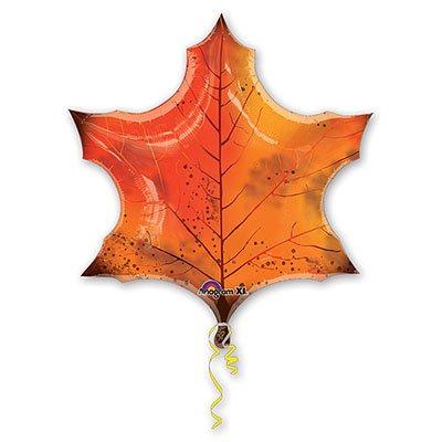 Шар-фигура Лист кленовый оранжевый 1207-1479