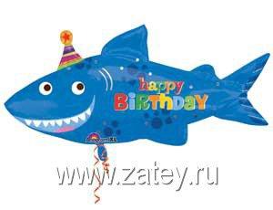 Воздушный шар фигура акула с колпаком 1207-1529