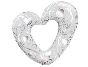 П ФИГУРА 7 Сердце Вензель Silver/White 1207-1604