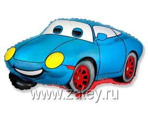 Фольгированный шар машина голубая 1207-1633