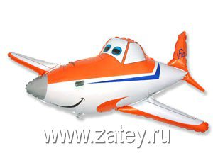 Шар фигура Самолет оранжевый 1207-1634