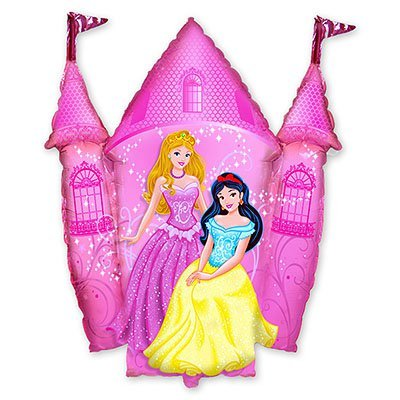 Шар-фигура Принцессы и Замок розовый FM 1207-1635